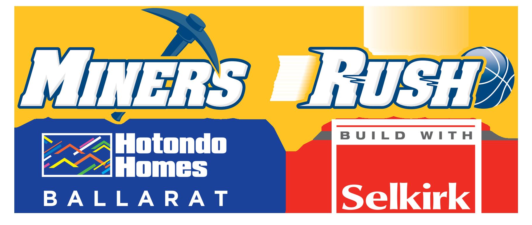 Hotondo Homes Ballarat Miners & Selkirk Rush Senior Elite Team Joint Logo
