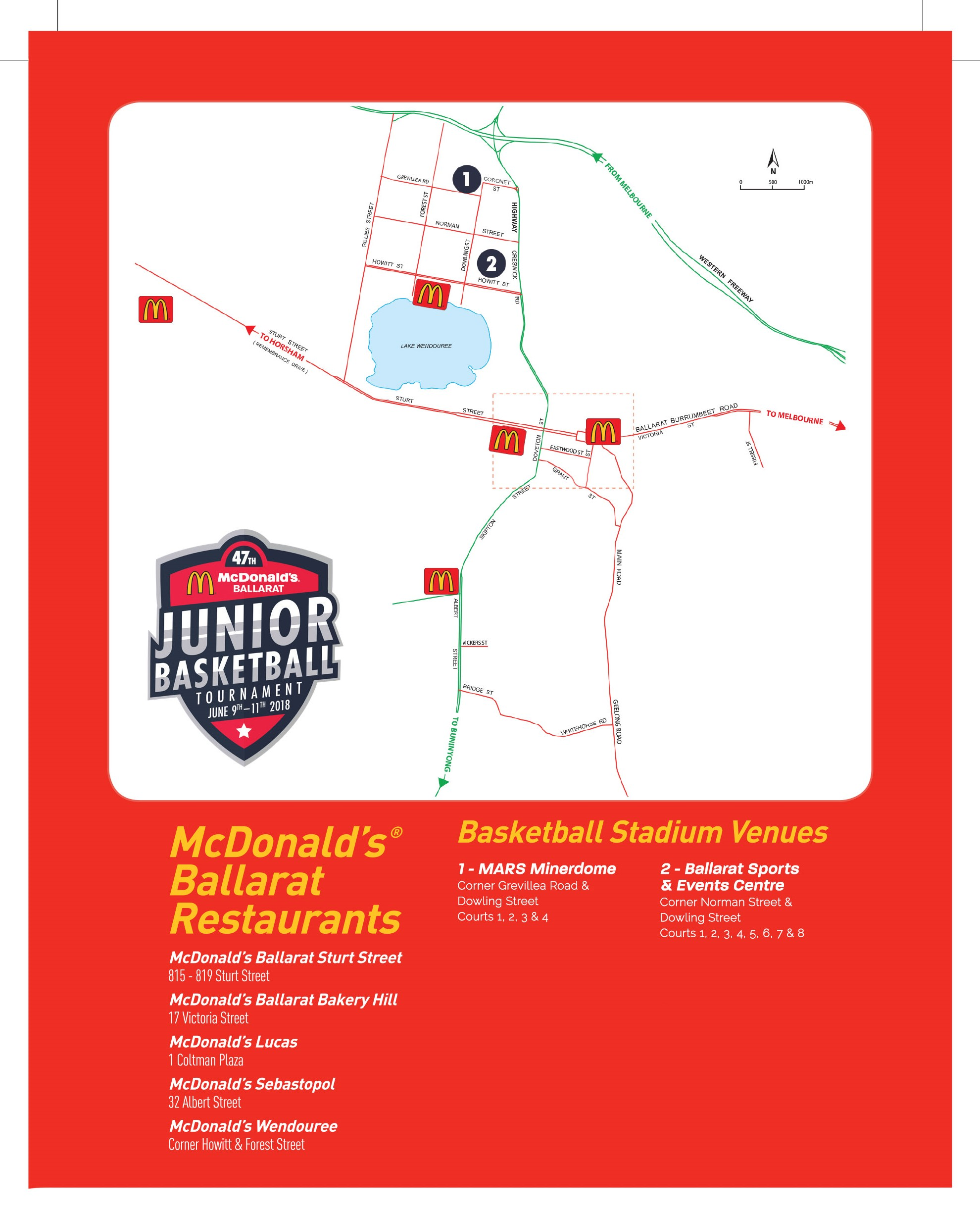 Mcdonalds Map for nationals